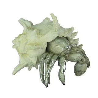 White and Silver Decorative Hermit Crab Statue