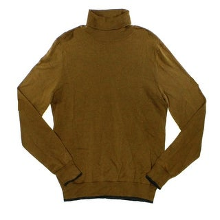 INC NEW Brown Ruse Mens Size Small S Turtleneck Long Sleeve Sweater