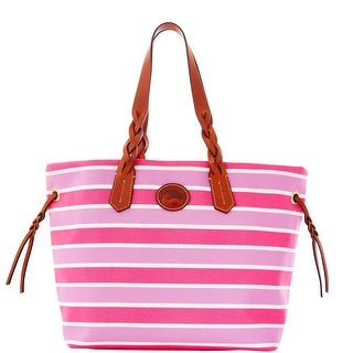 Dooney & Bourke Eastham Shopper (Introduced by Dooney & Bourke at $199 in Nov 2012) - hot pink orchid wh