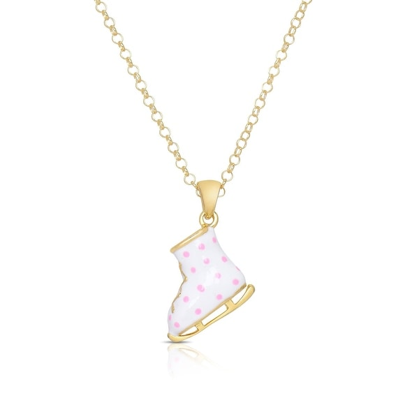 Lily Nily Girl's Ice Skate Pendant - White