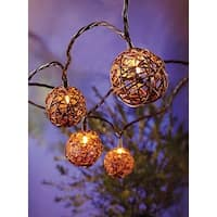 Living Accents 62AFV112 Clear Grapevine Ball Light Set, 9 ft. Long
