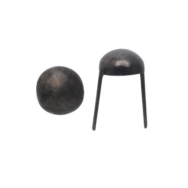Create Recklessly, Round Head Spot Studs 1/8, 24 Pieces, Gun Metal Plated