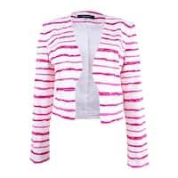 Nine West Women's Striped Blazer - candy/ivory