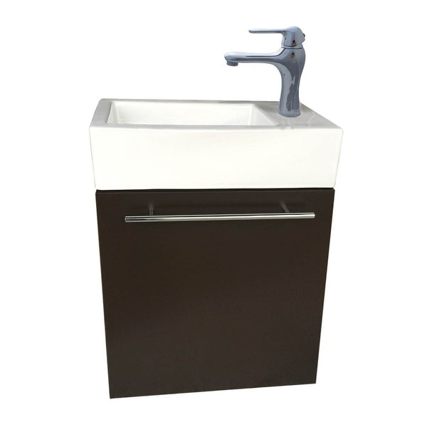 Small Wall Mount Bathroom Cabinet Vanity Square Vessel Sink