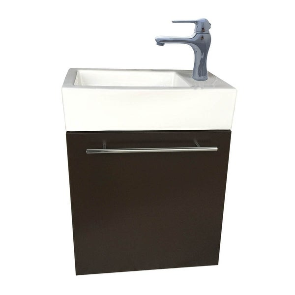Small Wall Mount Bathroom Cabinet Vanity Square Vessel Sink | Renovator's Supply