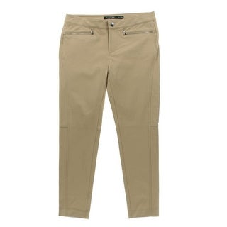 LRL Lauren Jeans Co. Womens Petites Straight Leg Jeans Denim Classic Rise