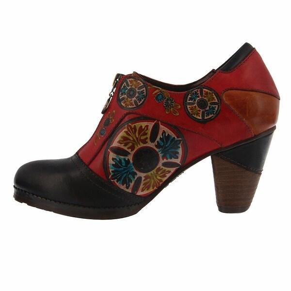 Women's Spiral Mosaic Mid-Heel Zipper Shootie Boot