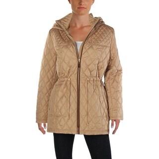 Ellen Tracy Womens Petites Basic Coat Winter Hooded - pm