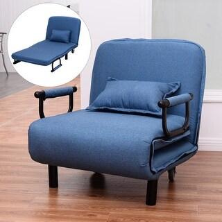 Gemma Fabric Oversized Convertible Ottoman Chair By