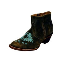 bf36752ce7c Shop Ferrini Western Boots Womens Overlay Old West Square Toe Choc ...