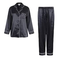 Richie House Men's Satin Two-piece Pajama Set