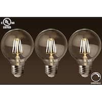 1 Pc/3 Pcs Dimmable LED G25 Vintage Filament Light Bulb 4.5W, ENERGY STAR, 2700K Soft White, E26 Medium Base