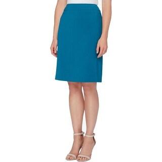 Tahari ASL Womens Petites Pencil Skirt Ponte Lined