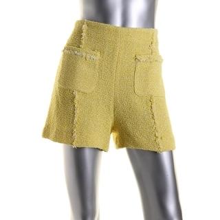 Zara Basic Womens Woven Flat Front Dress Shorts