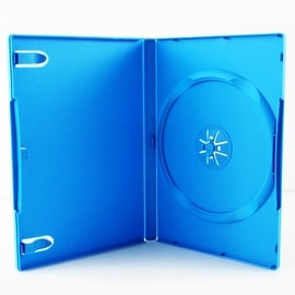 Third Party Baby Blue 14-mm Single DVD Case for Nintendo Wii U Media Package
