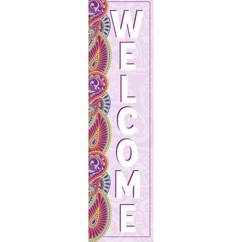 """Positively Paisley Welcome Vertical Banner, 12"""" x 45"""" - One Size"""