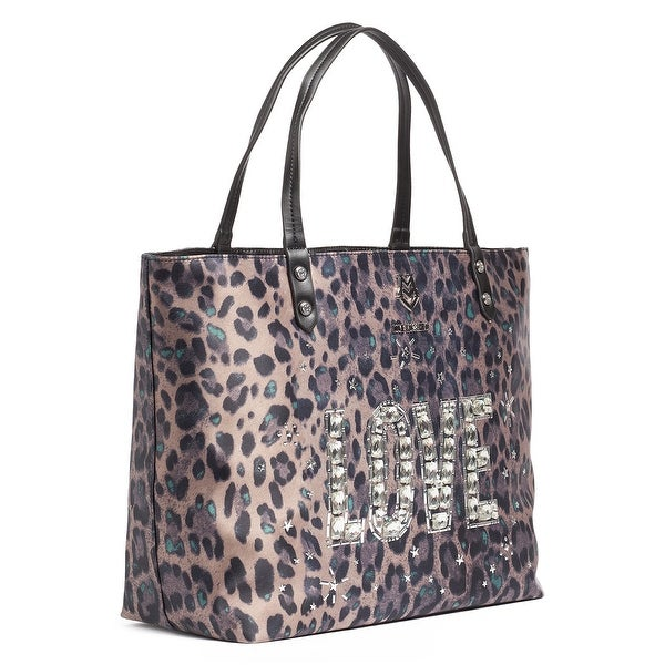 Moschino JC4187 0850 Leopard Green Shopper/Tote - 14-12-6