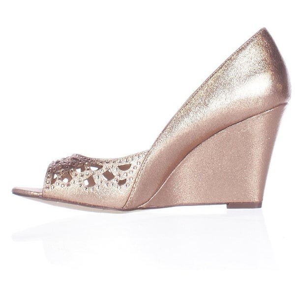 Style & Co. Womens CATHIEE Open Toe Wedge Pumps
