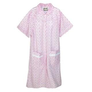 Ten West Apparel Women's Snap Front Short Sleeve Duster Robe