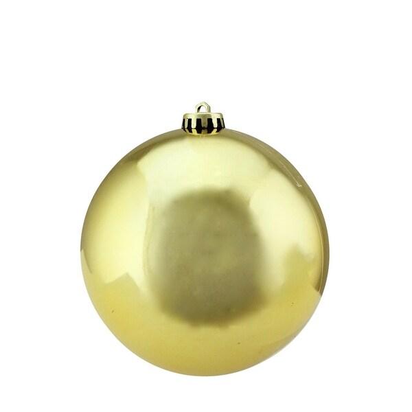 "Vegas Gold Shatterproof Shiny UV Resistant Commercial Christmas Ball Ornament 6"" (150mm)"