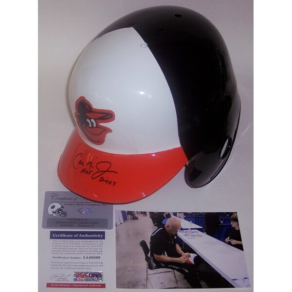 f349cb713 Shop Cal Ripken Jr. Autographed Hand Signed Baltimore Orioles Throwback  Full Size Authentic Helmet - PSA DNA - Free Shipping Today - Overstock -  13071159
