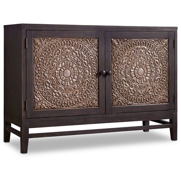 """Hooker Furniture 638-85216 54-1/4"""" Wide Hardwood Cabinet from the Melange - Matisette Collection - Two Tone Chocolate Gray"""