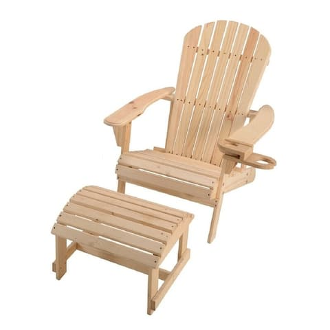 Earth Collection Adirondack Chair with phone and cup holder (Chair and Ottoman set)
