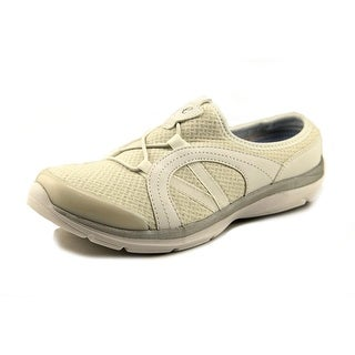 Easy Spirit e360 Quade Women Round Toe Canvas White Mules
