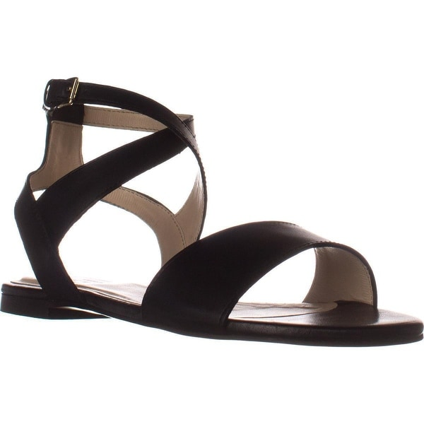 Cole Haan Fenley Flat Sandals, Black Leather