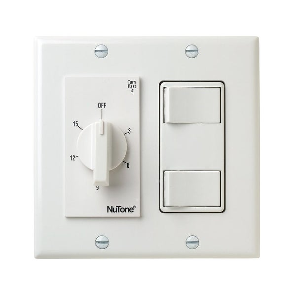 Nutone Vs69wh 15 Minute Bath Fan Timer Switch With Two On Off Switches White N A