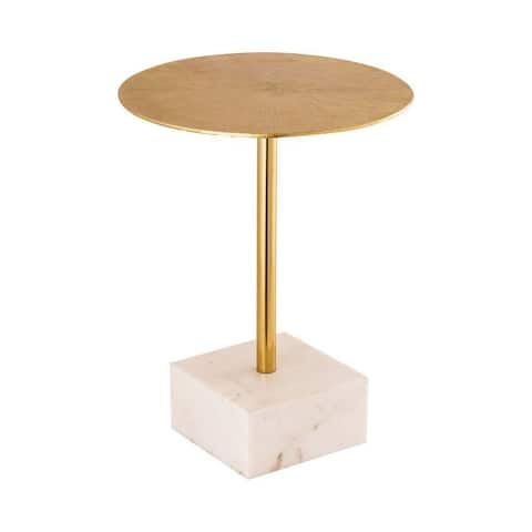 Carey Close - 20.5 Inch Accent Table Gold Finish