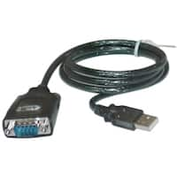 USB to Serial Adapter Cable, USB Type A Male to DB9 Male, 3 foot