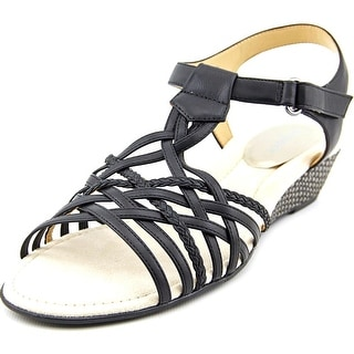 Easy Spirit Malawi Women  Open Toe Synthetic Black Wedge Sandal