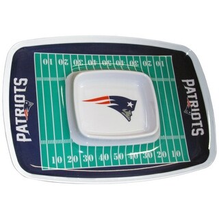 Siskiyou Sports New England Patriots Chip And Dip Tray Chip and Dip Tray