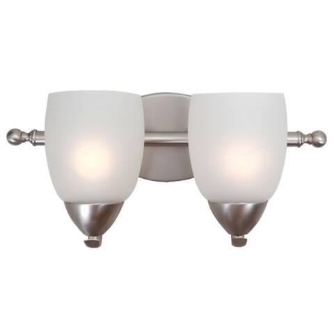 Ann 2 Light Vanity Lighting in Brushed Nickel - Brushed Nickel