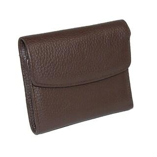 Buxton Women's Leather Mini Tri-Fold Wallet (Option: Chocolate Brown - One size)