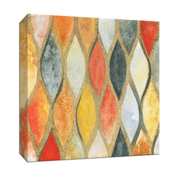 "PTM Images 9-147125 PTM Canvas Collection 12"" x 12"" - ""Teardrop Mosaic"" Giclee Patterns and Designs Art Print on Canvas"
