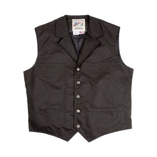 Schaefer Western Vest Mens Fenceline Canvas Ranger Black
