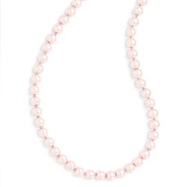 Chisel 8mm Pink Glass Pearl Cord Necklace