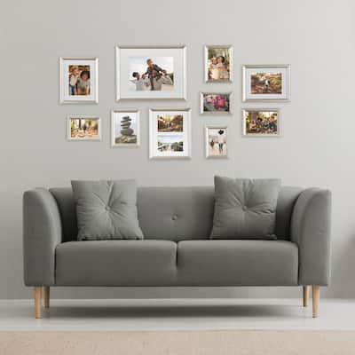 Kate and Laurel Adlynn Glam Wall Picture Frame Set