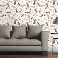Circle Art Group Removable Wallpaper Tile - Shrooms With A View