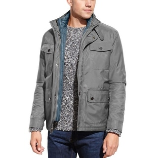 Kenneth Cole New York Ottoman 3-In-1 Slate Gray System Jacket and Vest Large