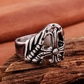 Vienna Jewelry Shield Emblem Stainless Steel Ring - Thumbnail 2
