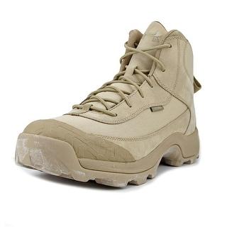 Under Armour Ridge Mid Men  Round Toe Leather Tan Desert Boot