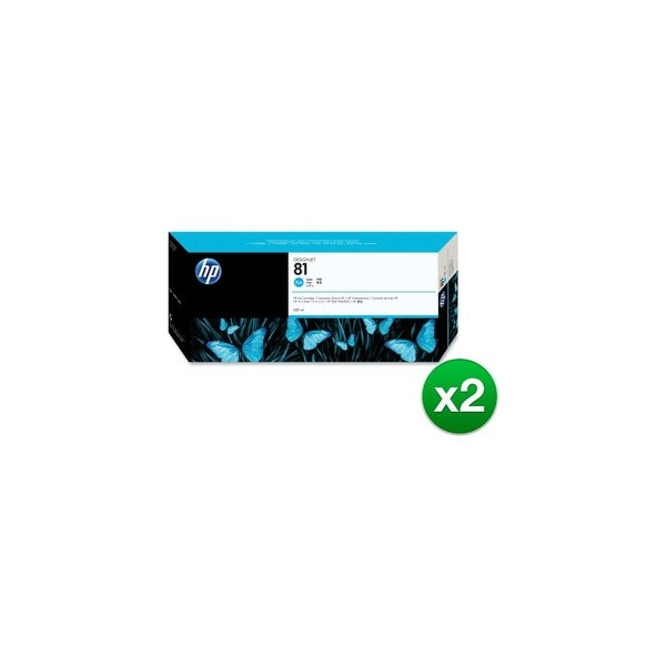 HP 81 680-ml Cyan DesignJet Dye Ink Cartridge (C4931A) (2-Pack)