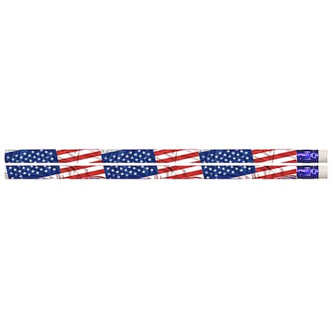 Flags & Fireworks Pencil Pack Of 12