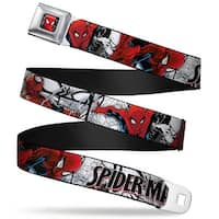 Ultimate Spider Man Ultimate Spider Man Face Web Full Color Spider Man Seatbelt Belt