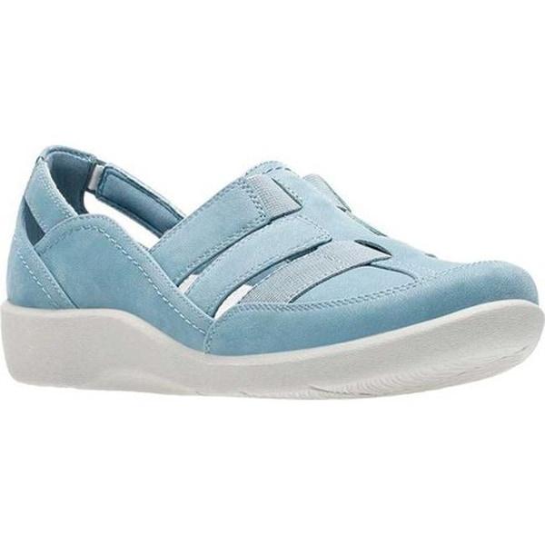 2c54ff99d31 Shop Clarks Women s Sillian Stork Slip-On Blue Grey Synthetic - Free ...