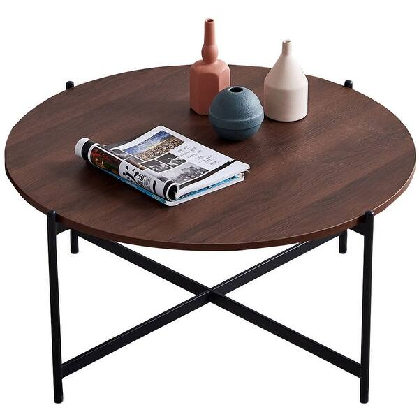 Modern Nesting Coffee Table Metal Frame With Top 36 In Overstock 32486710