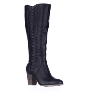 Fergalicious Cally Woven Side Tall Boots - Black
